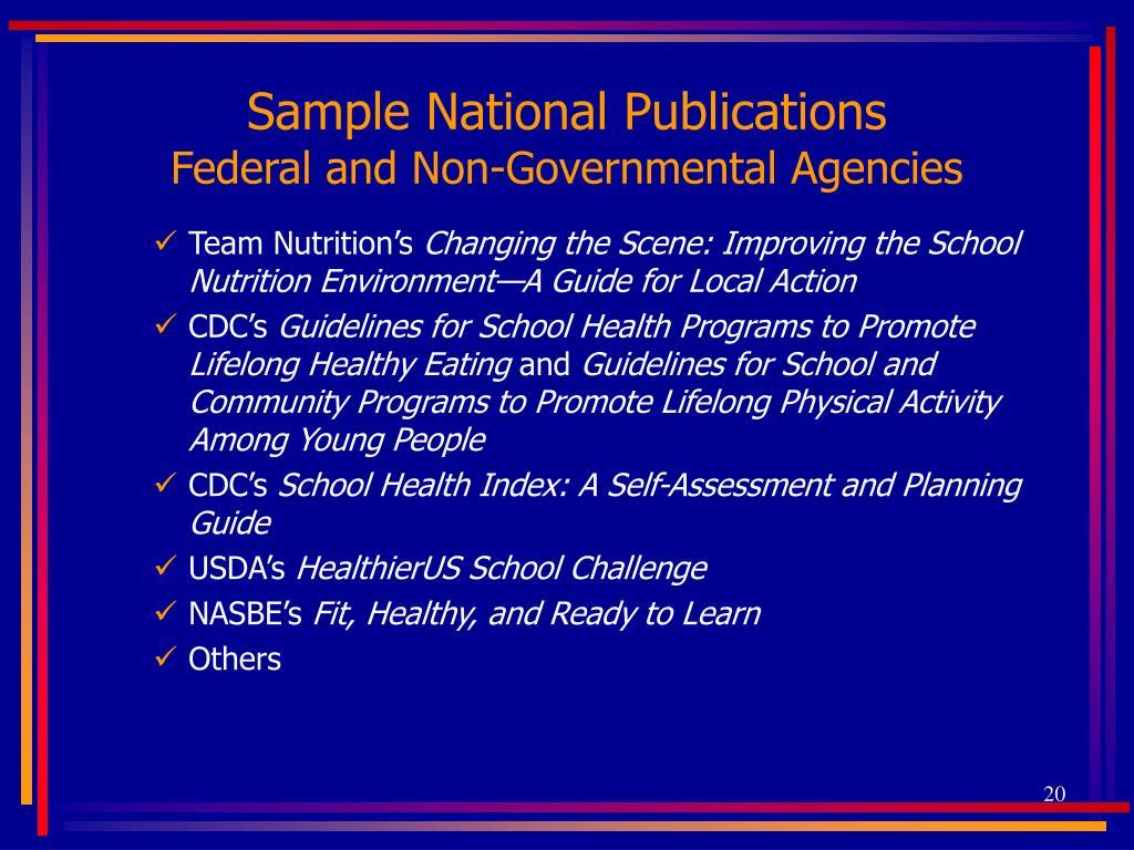 Sample National Publications