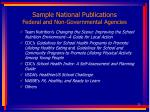 sample national publications federal and non governmental agencies