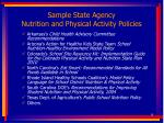 sample state agency nutrition and physical activity policies