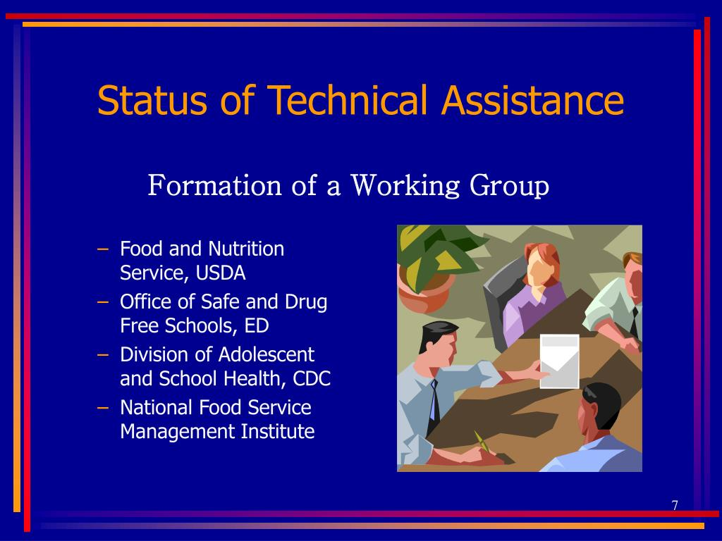 Status of Technical Assistance