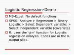 logistic regression demo