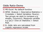 odds ratio demo