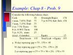 example chap 8 prob 9