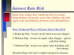 interest rate risk