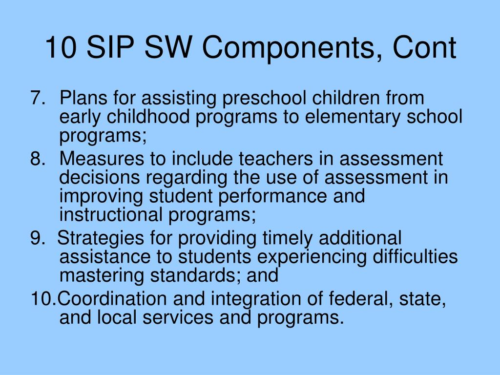 10 SIP SW Components, Cont