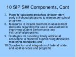 10 sip sw components cont