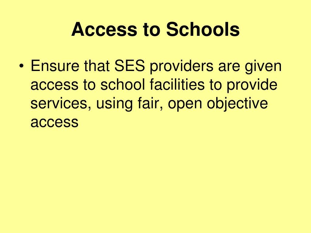 Access to Schools