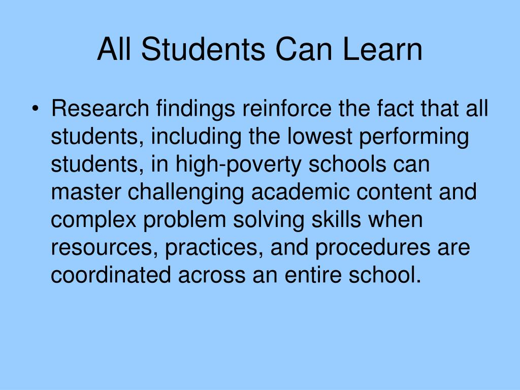 All Students Can Learn