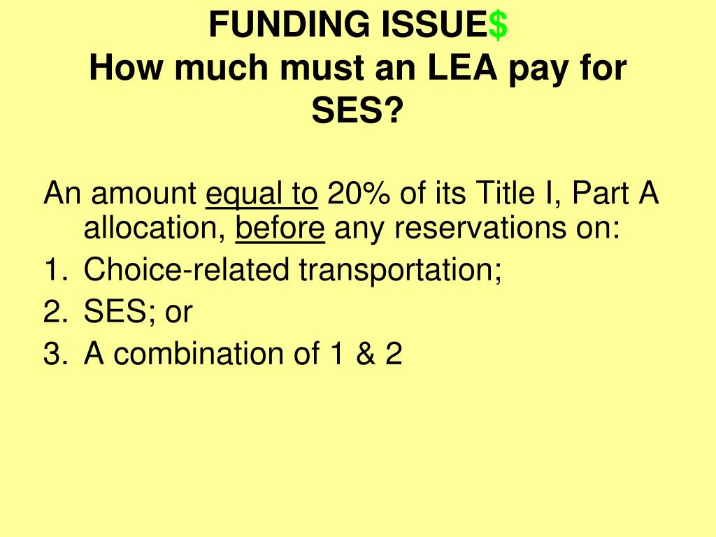 FUNDING ISSUE