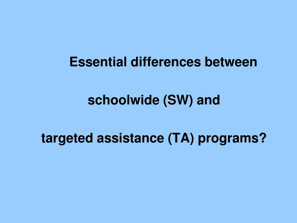 Essential differences between