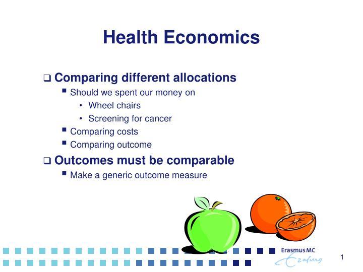 health economics n.