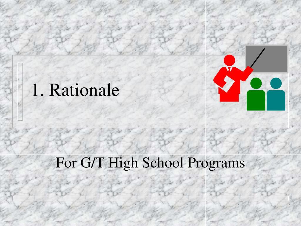 1. Rationale