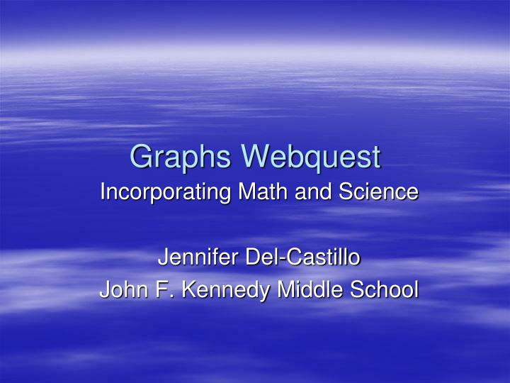 graphs webquest n.