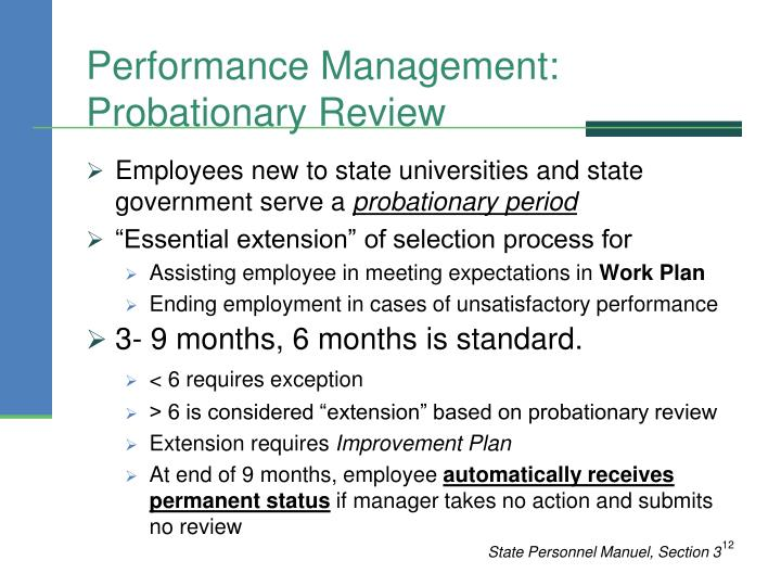 Performance Management: Probationary Review