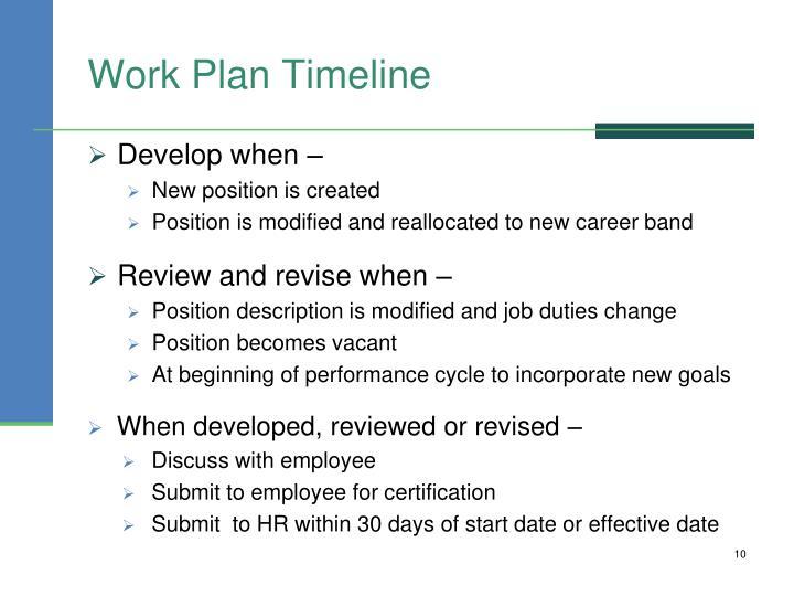 Work Plan Timeline