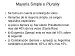 mayor a simple o plurality