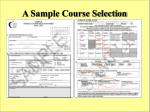 a sample course selection