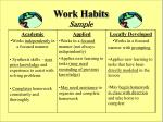 work habits sample
