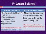 7 th grade science