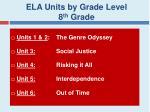 ela units by grade level 8 th grade
