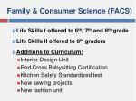 family consumer science facs