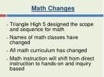 math changes