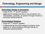 technology engineering and design