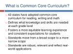 what is common core curriculum