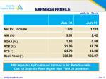 earnings profile