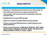 goals for fy12