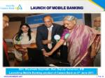 launch of mobile banking