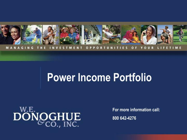 power income portfolio n.