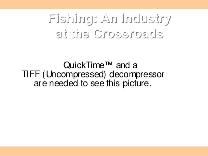 fishing an industry at the crossroads n.