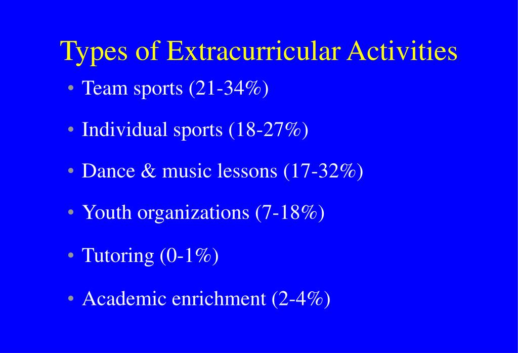 Types of Extracurricular Activities