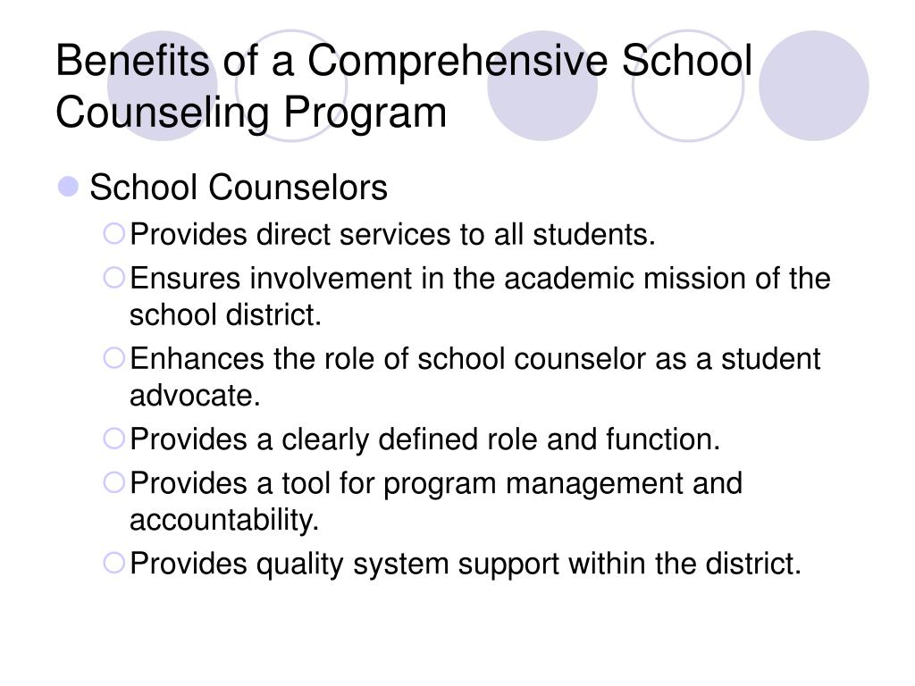 Benefits of a Comprehensive School Counseling Program