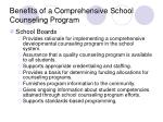 benefits of a comprehensive school counseling program21