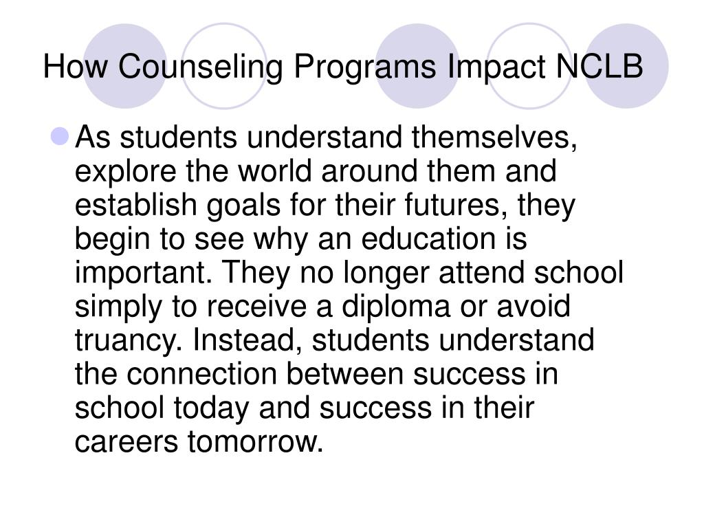 How Counseling Programs Impact NCLB