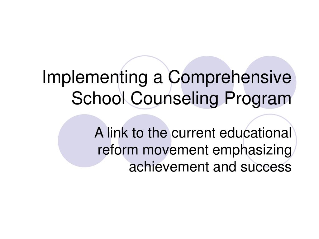 implementing a comprehensive school counseling program l.
