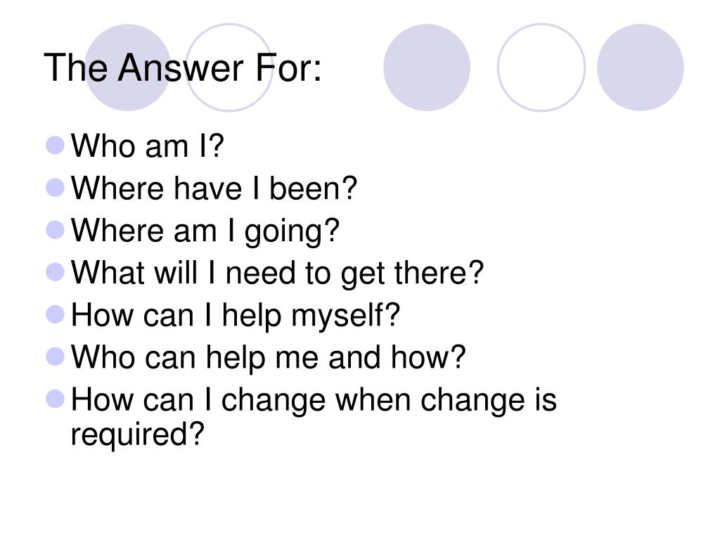 The Answer For:
