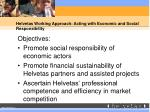 helvetas working approach acting with economic and social responsibility
