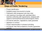 steps of public tendering