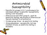 antimicrobial susceptibility