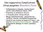 non suppurative complications strep pyogenes rheumatic fever