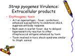 strep pyogenes virulence extracellular products1