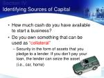 section iv identifying sources of capital