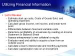 utilizing financial information1
