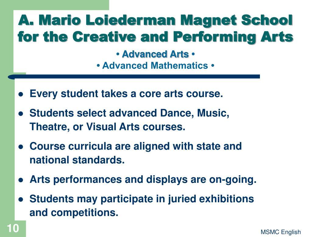 A. Mario Loiederman Magnet School