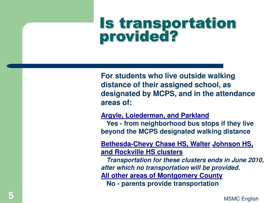 Is transportation