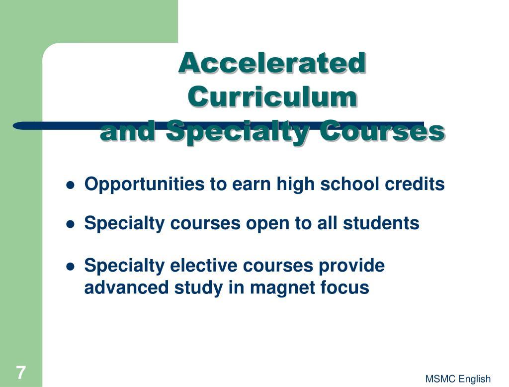 Accelerated Curriculum
