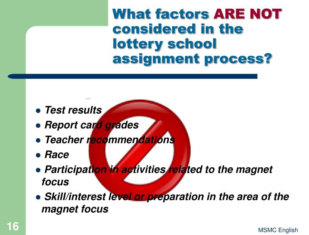 What factors